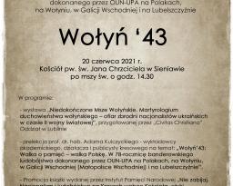 Zdjęcia główne wydarzenia: Wołyń `43