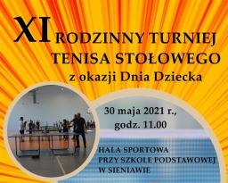Zdjęcia główne wydarzenia: XI Rodzinny Turniej Tenisa Stołowego