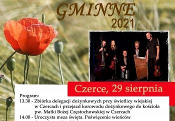 Zdjęcie główne dla: 'Dożynki Gminne w Czercach, 29 sierpnia 2021 r.'